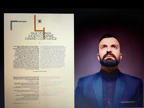 Le grand couturier Julien Fournié, Magazine The Gate Collection n°2