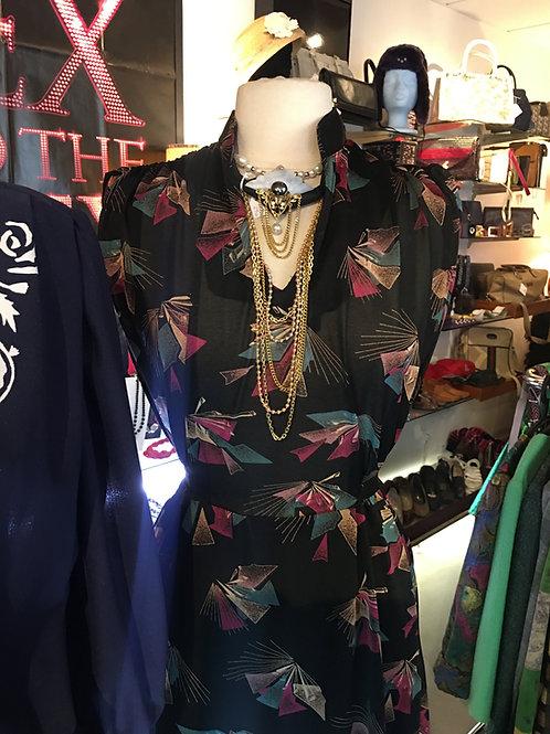 Robe imprimée Audrey 1980