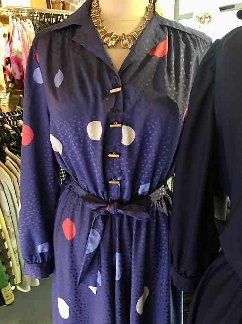 Jolie robe à motifs 1980
