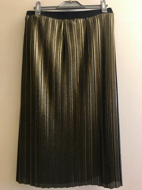 Jolie jupe plissée dorée 1990
