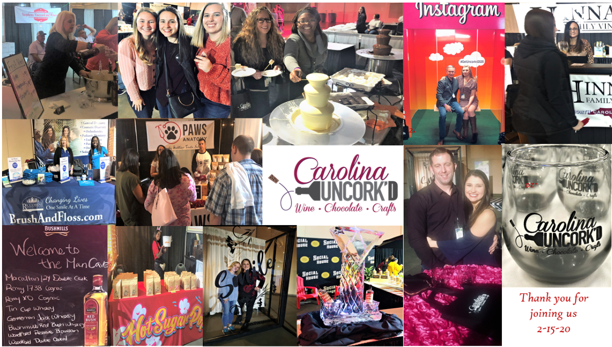 Thank you to sponsors Carolina Uncork'd