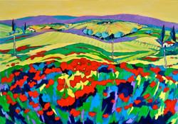 Paysage du Sud  92 x 65 cm