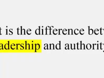 Authority vs Leadership