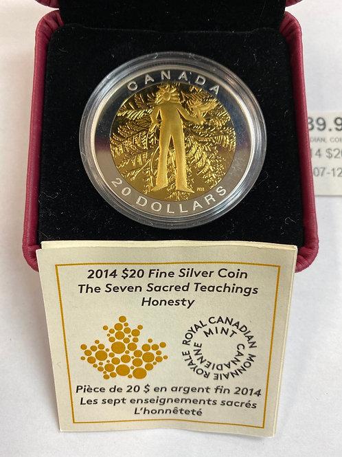 2014 $20 Fine Silver Coin
