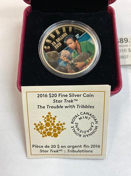2016 $20 Fine Silver Coin