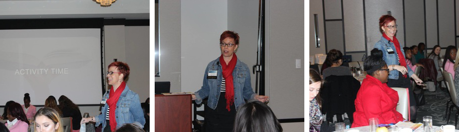 Robyn Sayles at the Young Women's Leadership Symposium