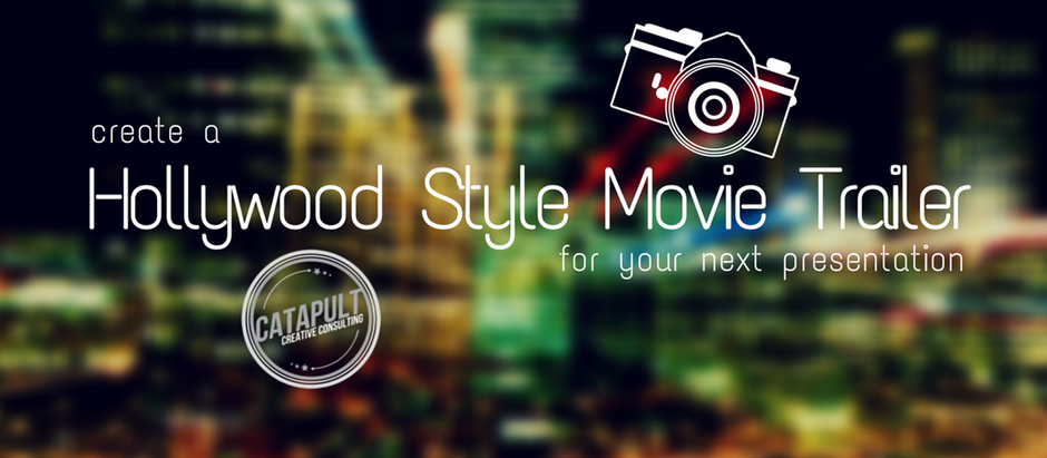 Create a Hollywood-Style Teaser-Trailer for Your Next Presentation