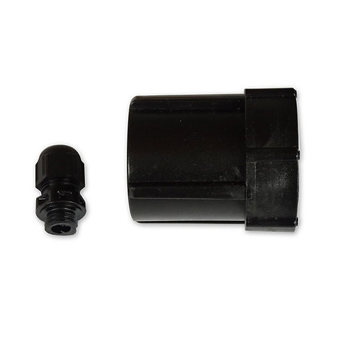 Black Threaded Compression Nut - (END CAPS that thread on to white fitting)