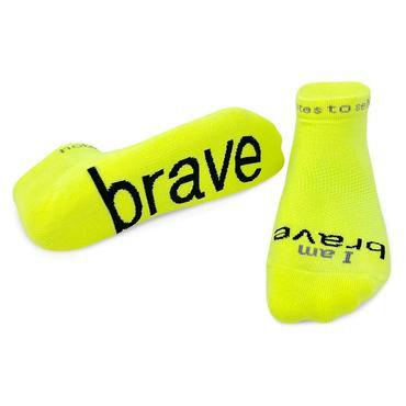 """I am Brave"" Socks"