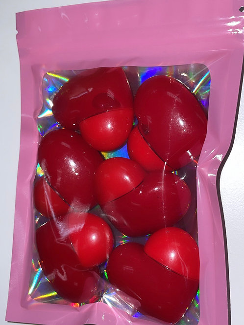 Red Lipglass Hearts (6 pack)