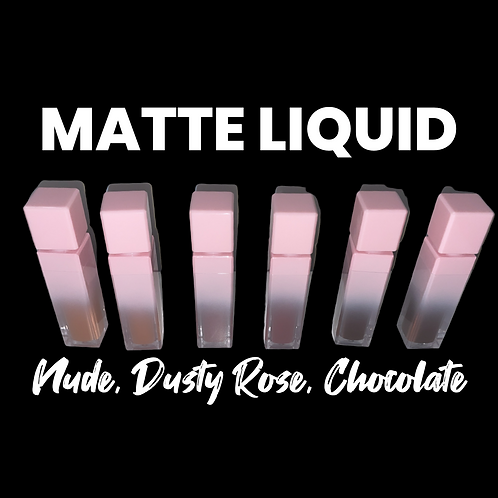 Pink ombré Mattes (Nude, Dusty Rose, Chocolate)