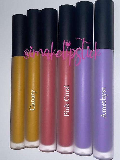 Black Frosted (Canary, Pink Coral, Amethyst)