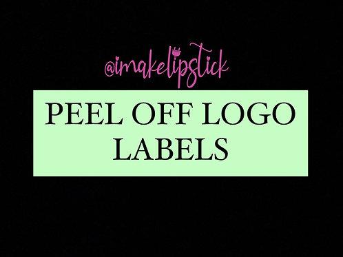 PEEL OFF LOGO LABELS (FLAT RATE 50 PCS)