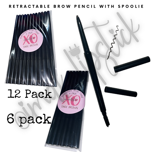 Retractable Brow Pencils (Dark Brown)