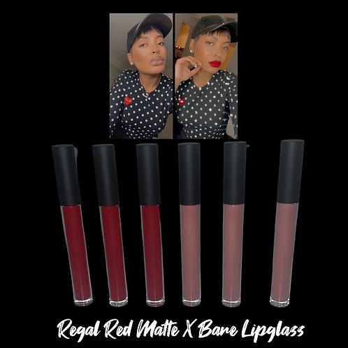 Regal Red Matte X Bare Lipglass (6pcs)