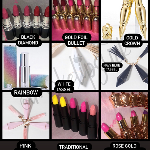 CHOOSE YOUR LIP PACKAGE! TRADITIONAL LIPSTICK