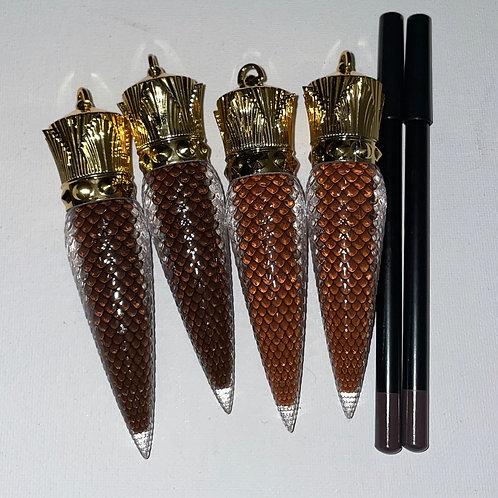 Dark Chocolate LC, Chocolate LC, Chocolate lip pencils