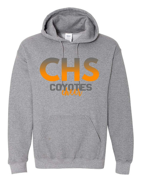 CHS Coyotes Cheer Gray Hoodie