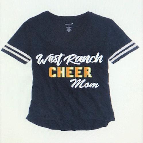 WR Cheer Mom V-Neck T-Shirt