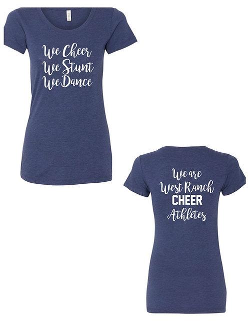 We Cheer We Stunt We Dance T-Shirt