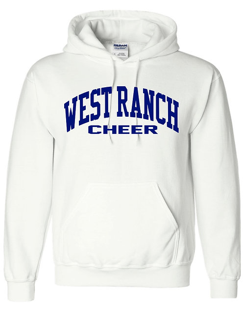 West Ranch Cheer White Hoodie