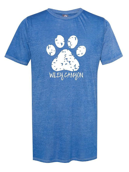 Wiley Canyon Distressed Paw Print Unisex T-Shirt