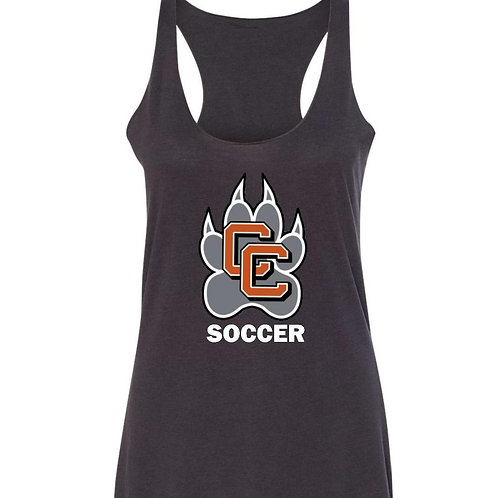 Castaic Soccer Tank with Paw