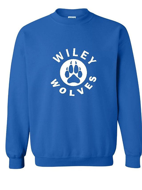 Wiley Wolves Crew Sweatshirt with the Paw