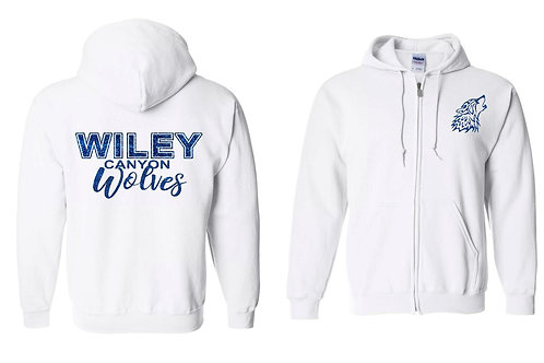 Wiley Canyon Wolves Zip Up Hoodie with Glitter