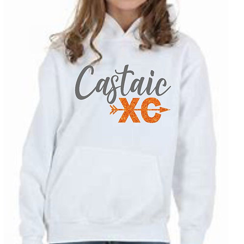 XC White Hoodie with Glitter