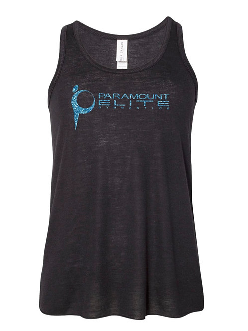 Paramount Elite Black Flowy Tank with Glitter