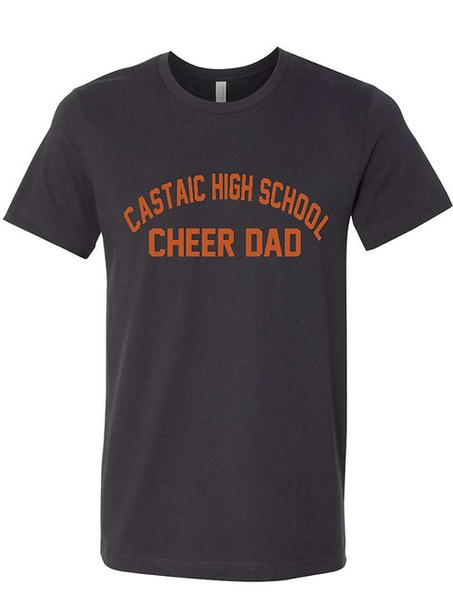Castaic Cheer Dad Charcoal T-Shirt