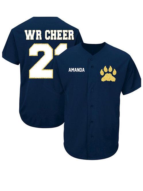 West Ranch Cheer Baseball Jersey