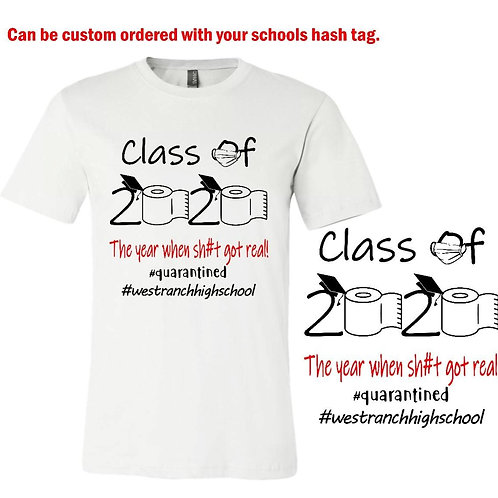Class of 2020 T-Shirt in White