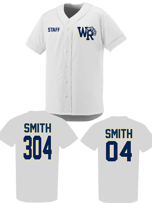 Personalized West Ranch Staff Jersey in White