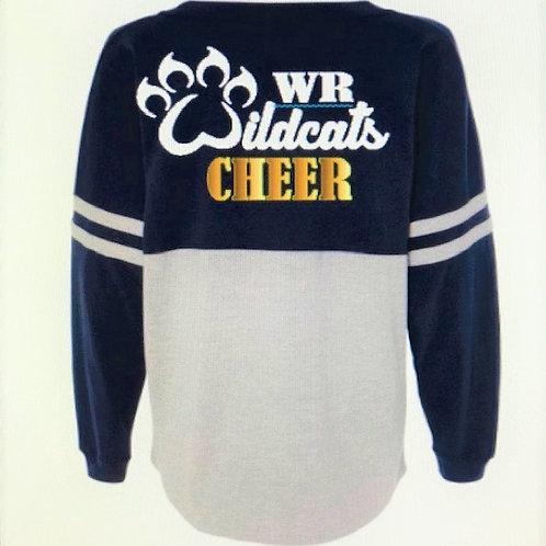 WR Wildcats Cheer Long Sleeve Jersey