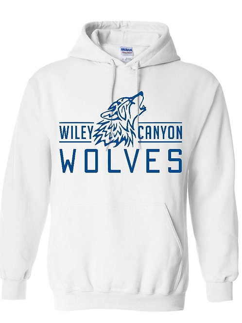 Wiley Canyon White Wolf Logo Hoodie