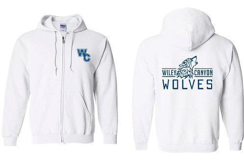 Wiley Canyon Wolves Zip Up with Wolf Logo Hoodie