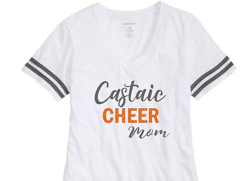 Castaic Cheer Mom V-Neck T-Shirt