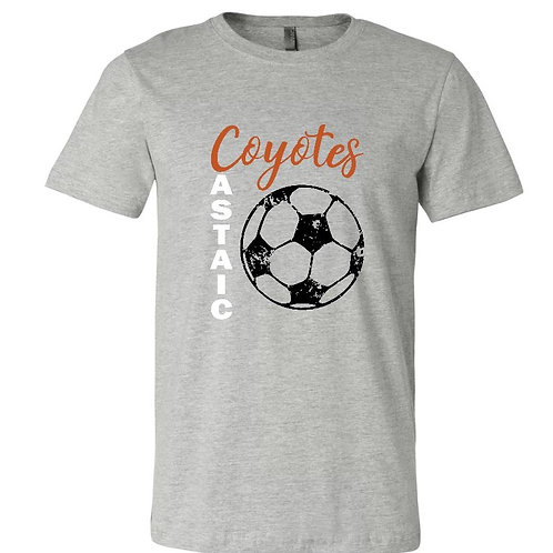 Castaic Coyotes GrayT-Shirt with distressed soccer ball