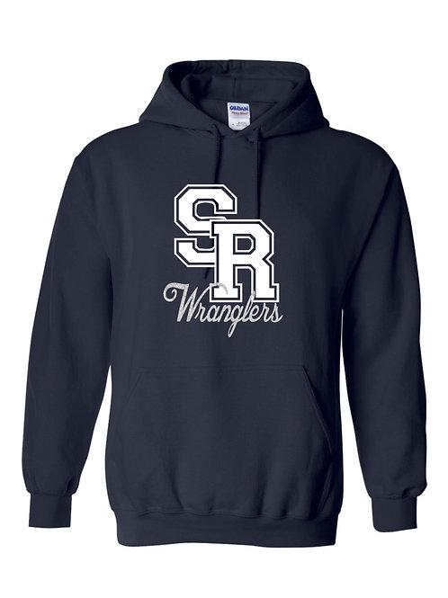 SR Wranglers Navy Hooded Sweatshirt