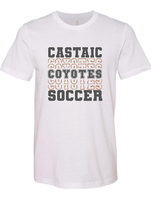 Castaic Coyotes Soccer Repeat White T-Shirt