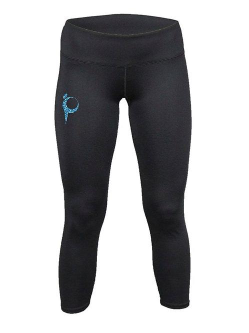 Capri Leggings with Glitter Logo