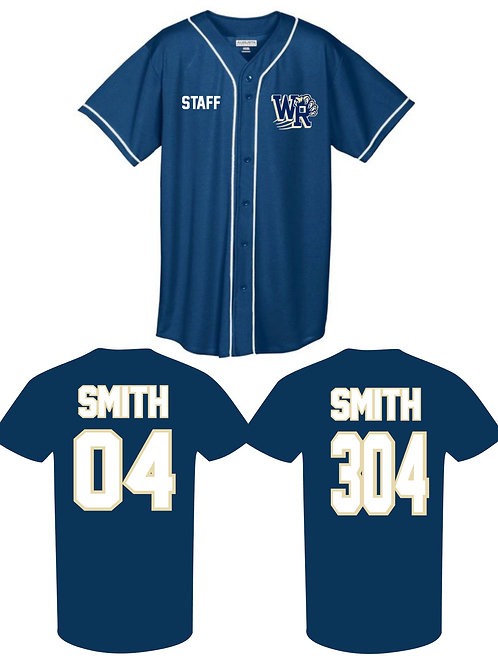 Personalized West Ranch Staff Jersey in Navy Blue