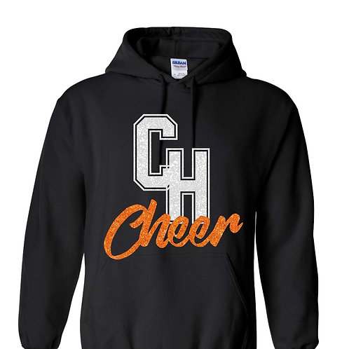 CH Cheer Black Hoodie with glitter