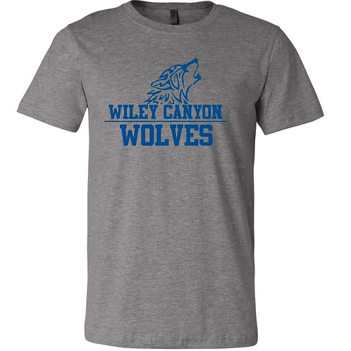 Wiley Canyon Wolves T-Shirt with Wolf Logo