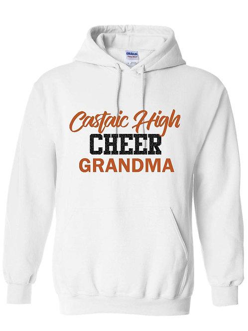 Castaic Cheer Grandma White Hoodie