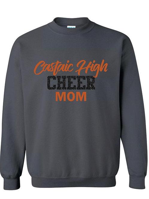Castaic Cheer Mom Charcoal Crew Sweatshirt