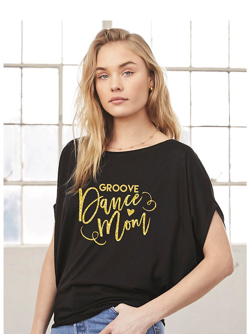 Groove Dance Mom Bella & Canvas Flowy Circle Top