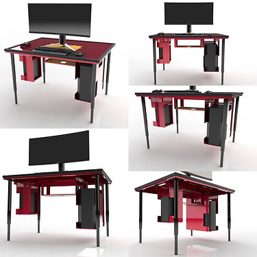 BGS Modular Console & PC Gaming Table Configured for XBox Series X and PC